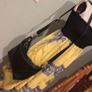 Steve Madden Black Leather Cross Body Bag
